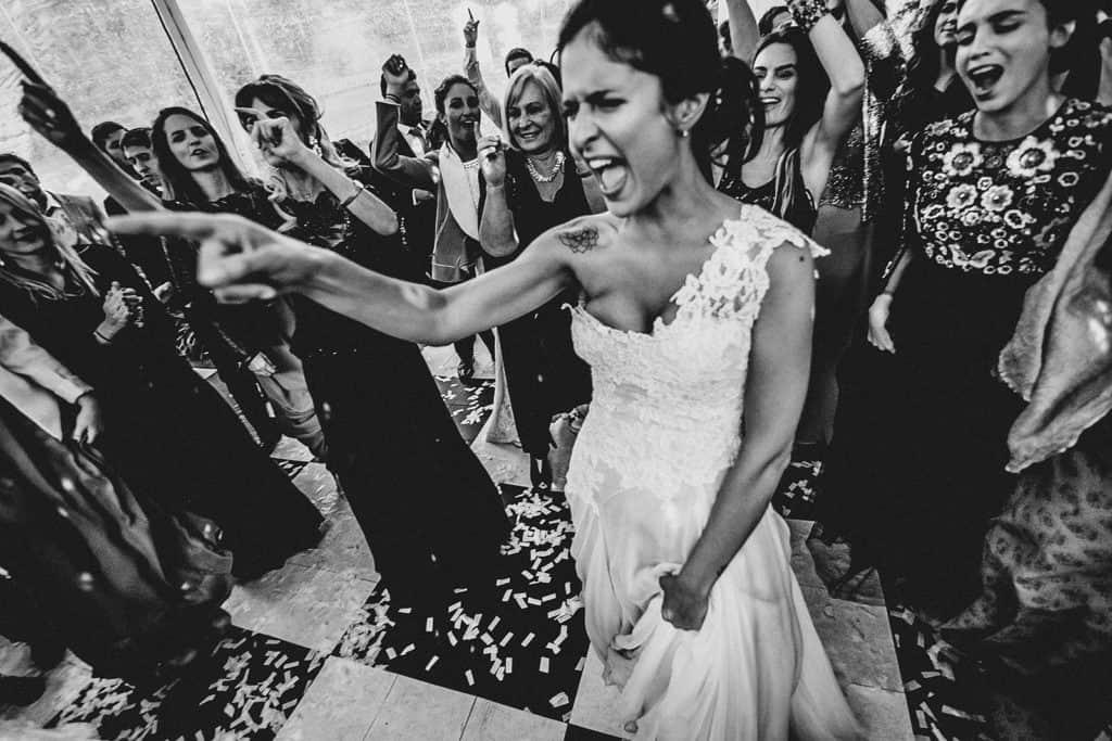 crazy bride in barcelona wedding