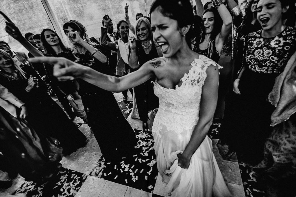 bride screaming