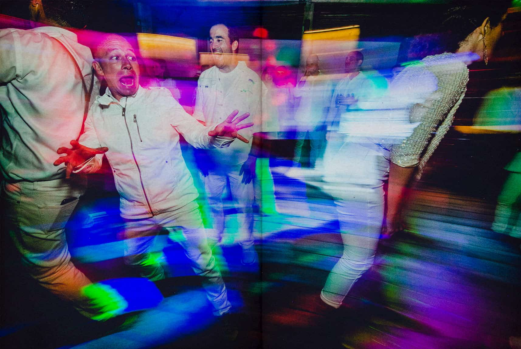 a guy screaming in the dance floor
