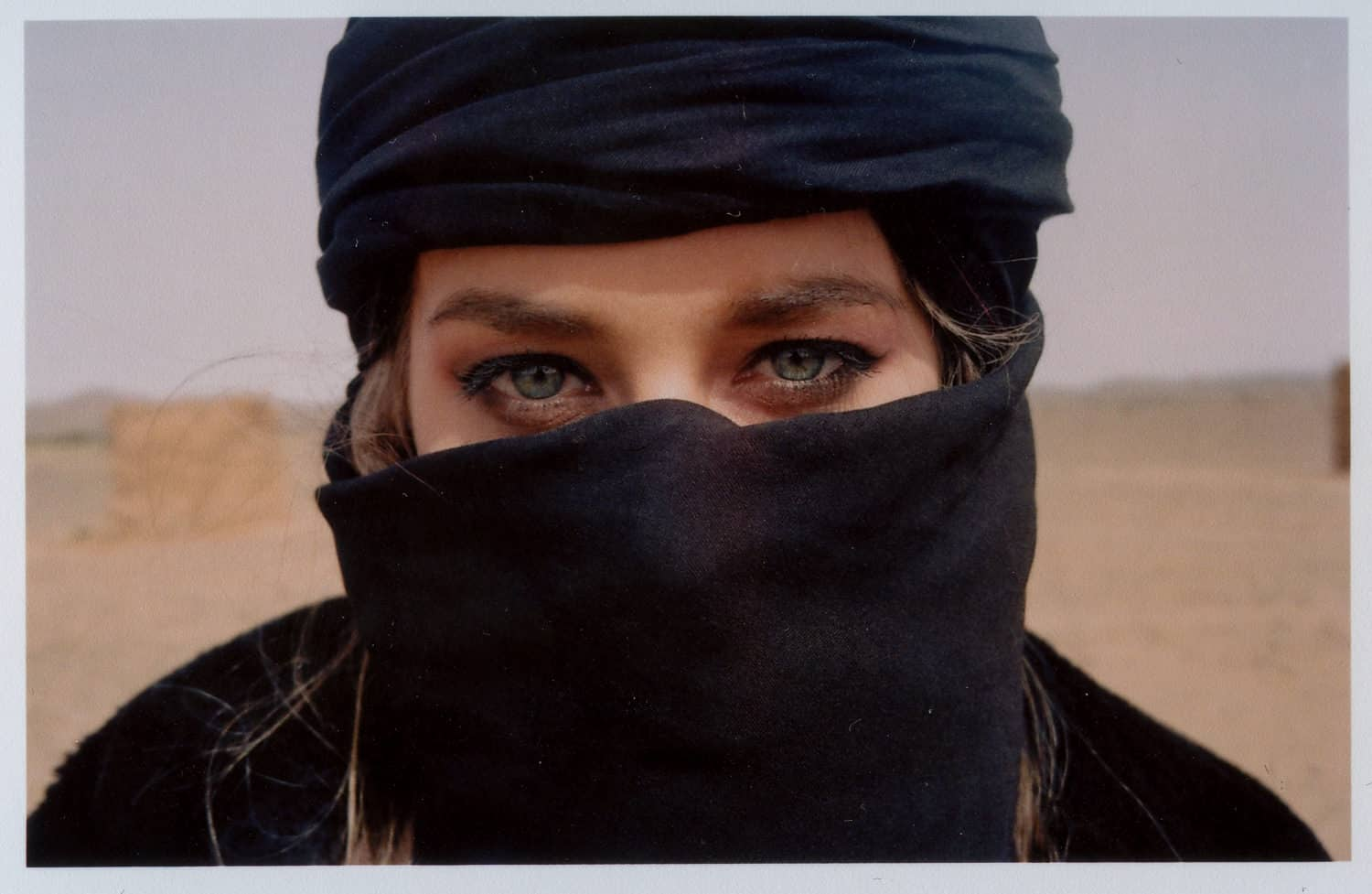 the eyes of a girl with a burka