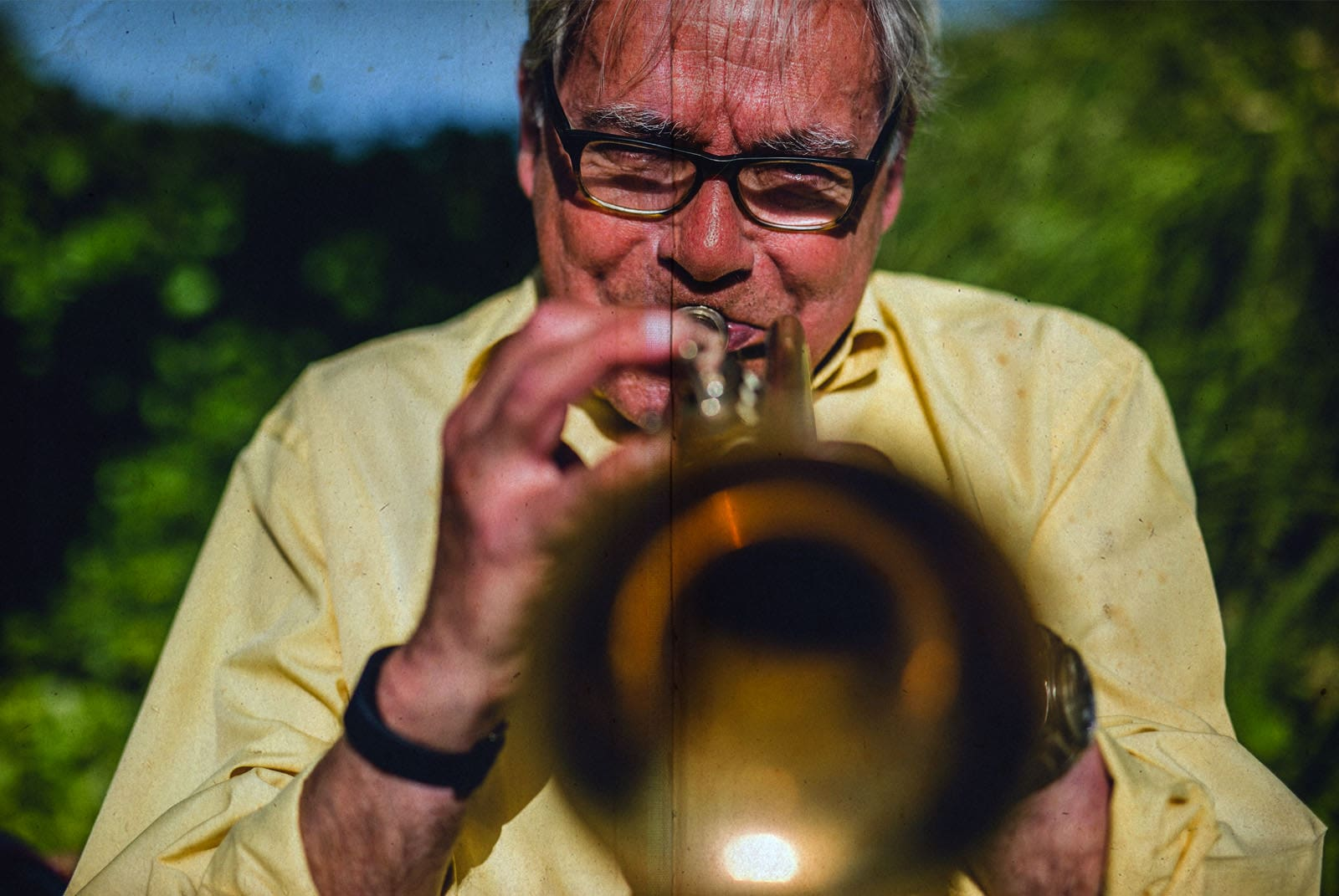 trumpeter portrait in a wedding
