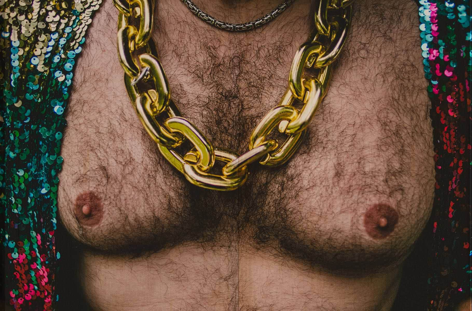 big tits with a golden chain