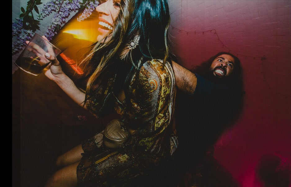 a man grabbing a girl like he is fucking her in the party