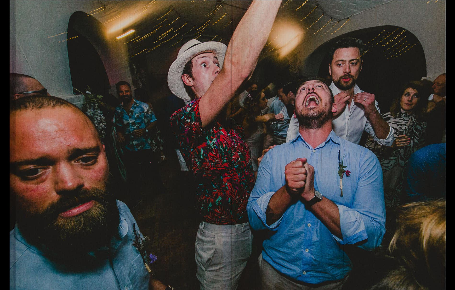 crazy wedding party, people dancing madness