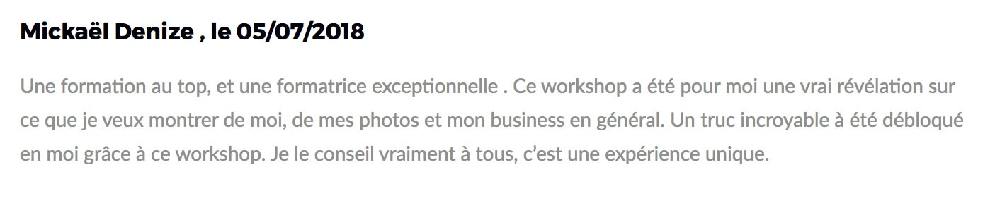 reviews from one of the students in paris