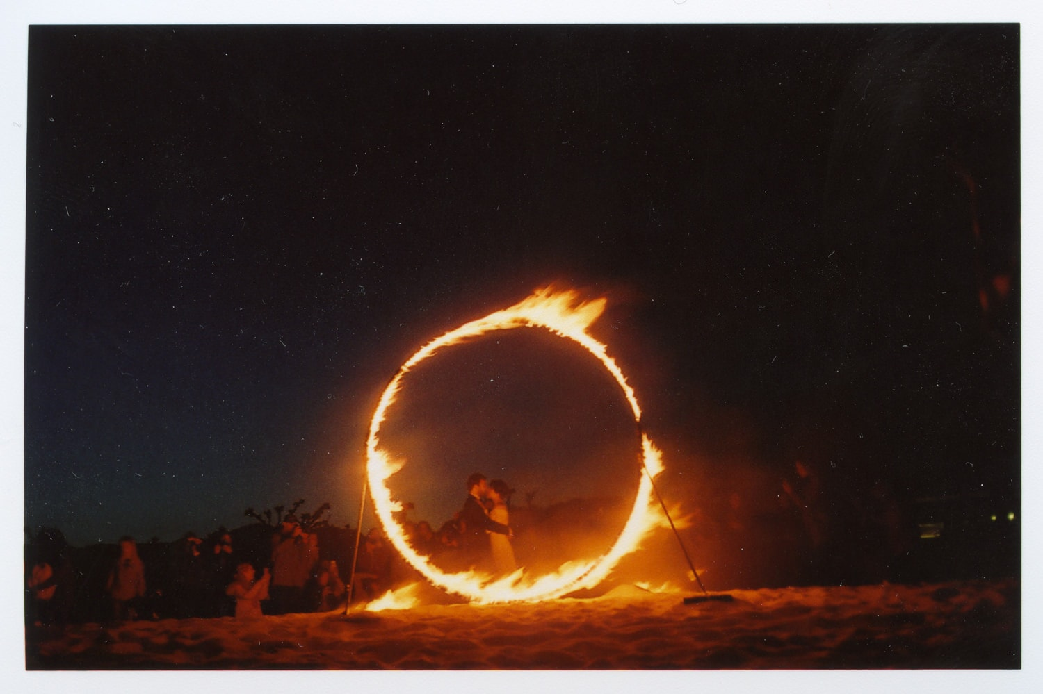 ring of fire in a photoshoot at the beach