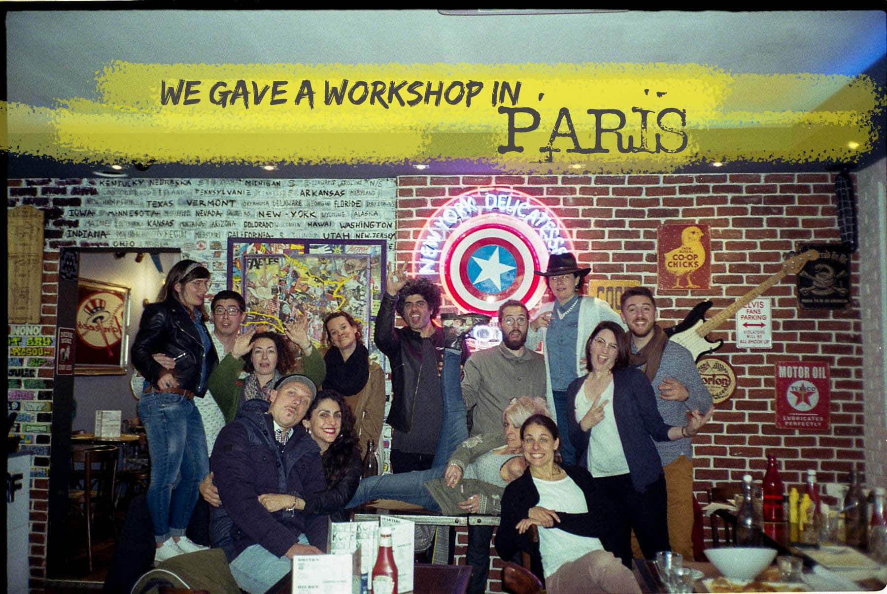 group picture of the richters workshop in paris 2019