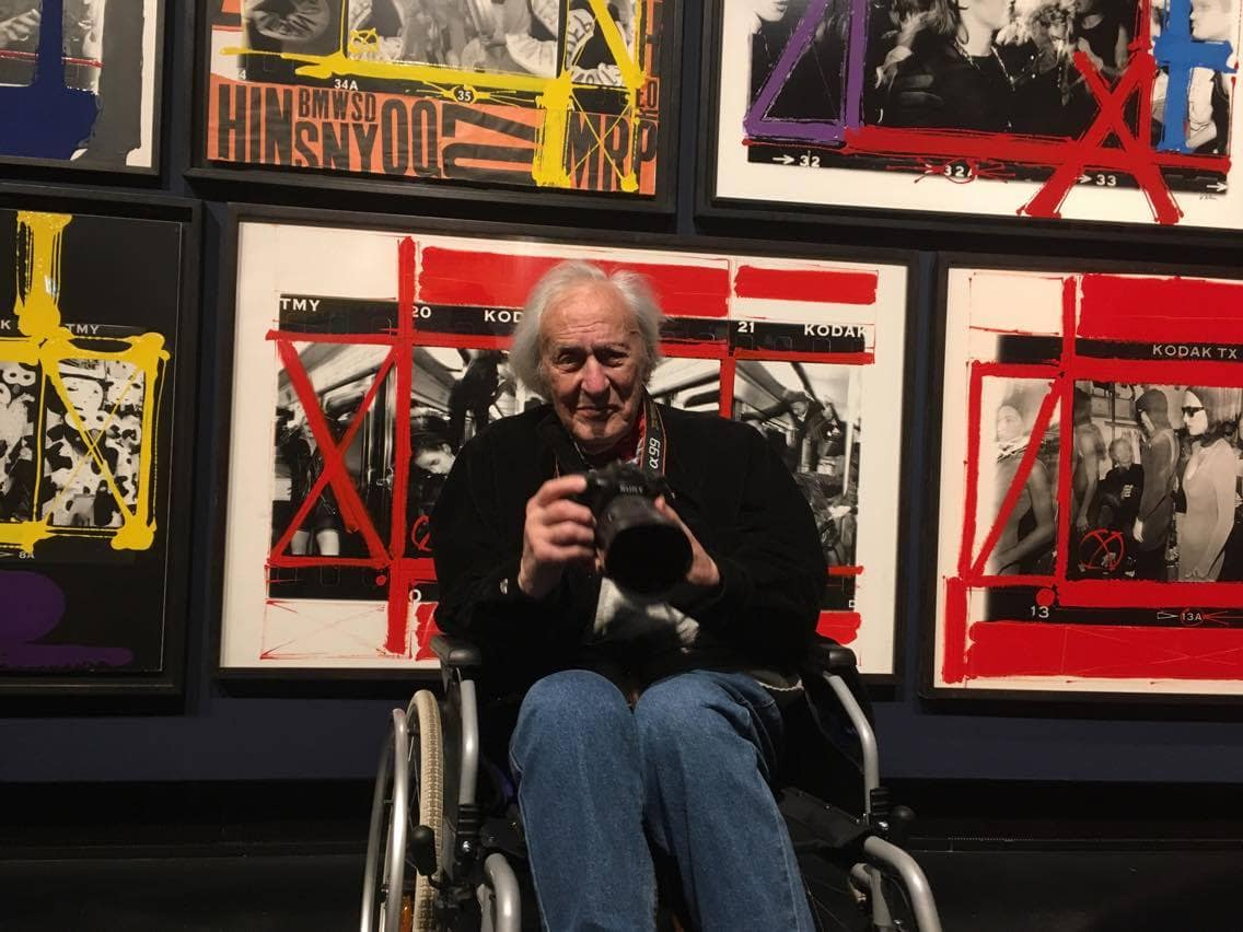 william klein at his expo in C/O berlin